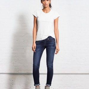 Rag & Bone Wells Wash Skinny Whiskered Jeans 25